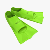 swim fins green 3d model