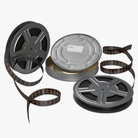 3dsmax video film reel set