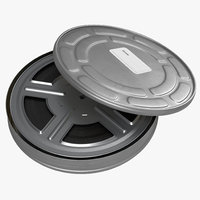3d model of video film reel case