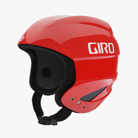 3d giro sestriere helmet red model