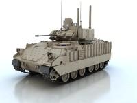 bradley ifv tank 3d model
