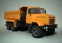 3d ukrainian truck kraz 65032