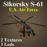 3d sikorsky usa helicopter model