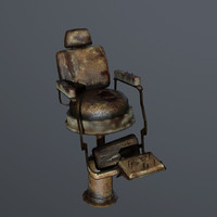 old barbershop chair 3d fbx