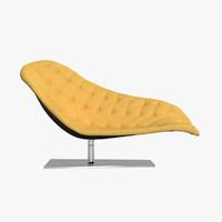 bohemian chaise lounge 3d model