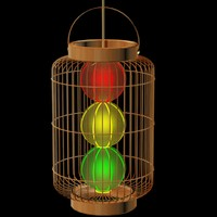 cage lantern chinese 3d max