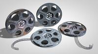 3d film reels model