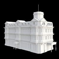 3d vintage building