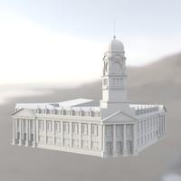 3d model vintage building