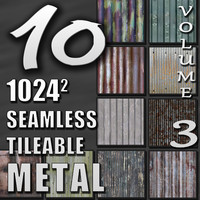 10 Seamless Tileable Metal Wall Floor Texture Pack Volume III
