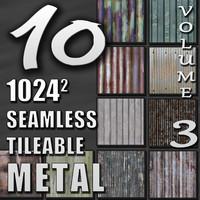 10 Seamless Tileable Metal Wall Floor Texture Pack Volume III