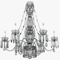 group-chandelier christal 3d model