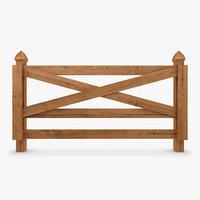 fence wood 02 3d model