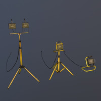 3d halogen work lights model