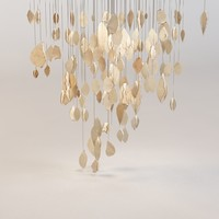 clouds chandelier 3d max