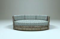 3d oval sofa outdoor scene