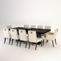 3d baker dining set table chairs model