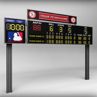 3ds stadium baseball score board