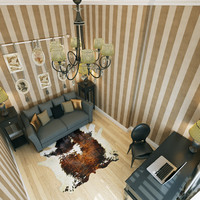 3d home office interior