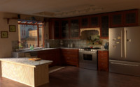 kitchen stainless steel 3d 3ds