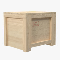maya wooden shipping crate 3
