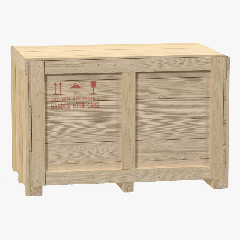 3d model of Wooden Shipping Crate 01.jpg