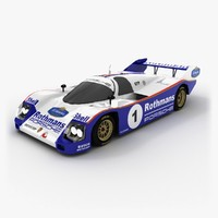 3d model porsche 962