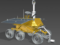rabbit moon jade lunar rover 3d model