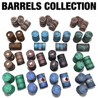 oil barrels 3d model