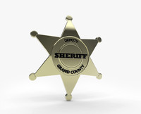 badge sheriff 3d model