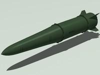 missile 9m723k 3d 3ds