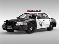 crown victoria car 3d model