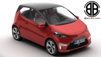 generic city car 3d 3ds