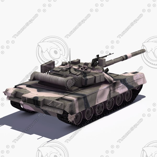 t80u main battle tank 3d max