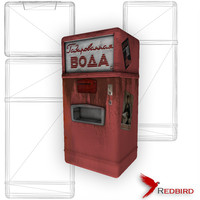 soviet soda machine red 3d model