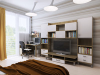 3d interior light model