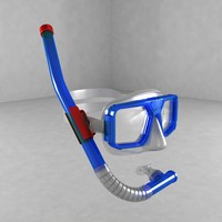 3ds max diving mask