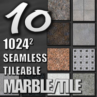 10 Seamless Tileable Marble Textures
