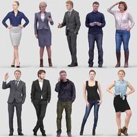 3d model realistic humans
