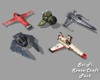 3d space craft polys model