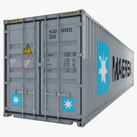 3d industrial container model