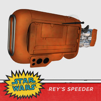speeder bike rey star 3d model