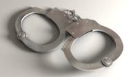 hand cuffs handcuff 3d obj