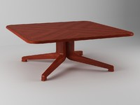 3d table coffee wood model