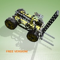 free meccano forklift version! 3d model