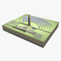 3d solar power station