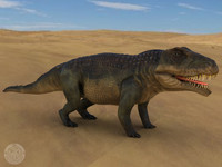 3ds max extinct triassic reptile