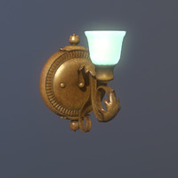 decorative antique wall lamp 3d fbx