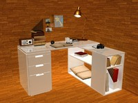working table desk 3d max