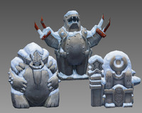 3d aztecs idol model